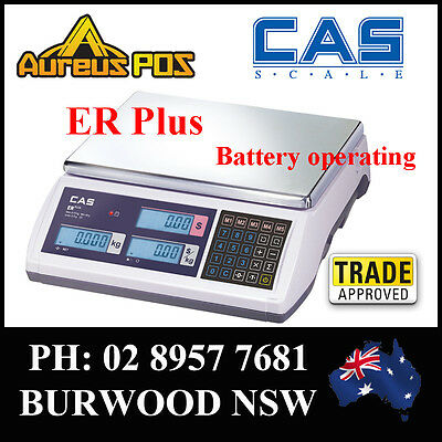 CAS ER PLUS 30KG Computing Retail Scale Trade approved