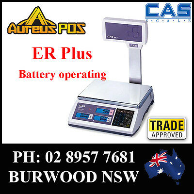 CAS ER PLUS Pole 15KG Computing Retail Scale Trade approved