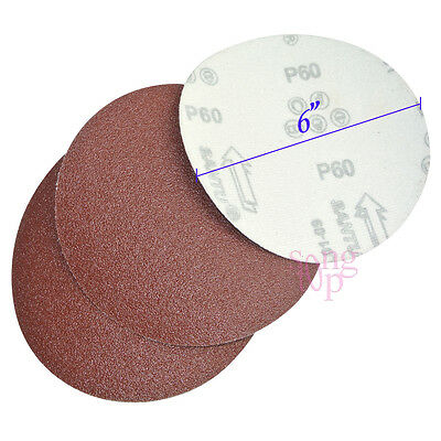 "10x 6"" 60 Grit Sanding Disc Paper Hook and Loop Backing Sander Abrasive Air"