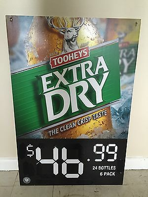 Tooheys Extra Dry TED Beer Sign Pub Man Cave Collectable