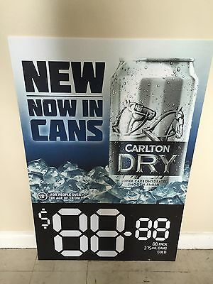 Carlton Dry Beer Sign Pub Man Cave Collectable Home Brew
