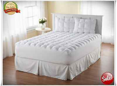 Full Size Mattress Pad Cover Topper Pillow Top Thick Cotton Bedding Luxury New
