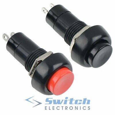 Red or Black Momentary Round Push Button Switch SPST Car Dash 12V