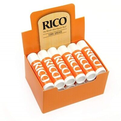 Rico Premium Woodwind Cork Grease Pack of 12 for clarinet Saxophone Oboe Bassoon