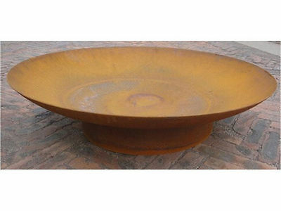 rust style fire pit diameter 90cm 3mm thickness rustic look patio heater