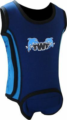 TWF Baby Wrap Wetsuit  -  Dolphin Blue 2017