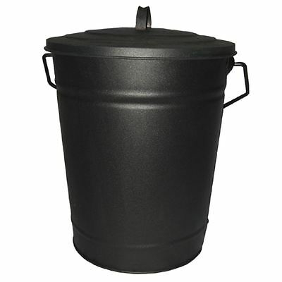 Ash Bucket Black Fire Coal Water Storage Carrier Fireplace Fireside Accessory