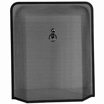 Melton Fire Guard Black Fireside Fireplace Cover Spark Protector Shield Screen