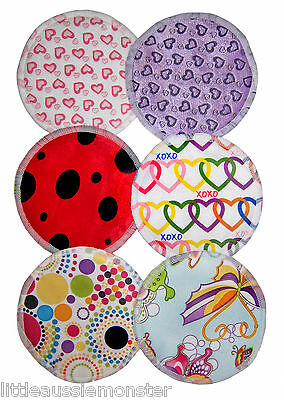 Cloth Breast Nursing Pads Washable Reuseable Eco Bamboo Waterproof cute Prints