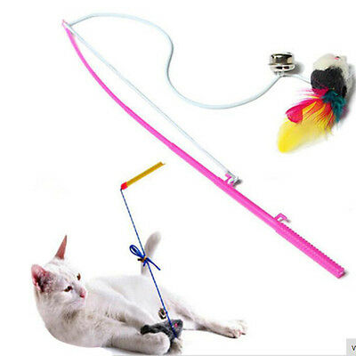 Pet Cat Toy Cute Design Wire Feather Teaser Wand Plastic Toy Cat Product For Pet