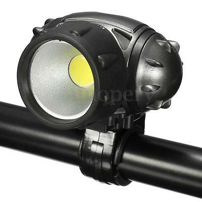 Bicycle Bike Cycling COB LED Front Head Light Lamp Headlight Safety Warning AAA