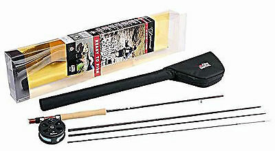 Abu Garcia 4 Piece Carbon Diplomat 9ft 904 LH Fly Rod with Reel Combo