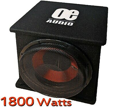 "Car Audio Speakers 12"" Subwoofer Bassbox Amplified Active Built in AMP 1300w"