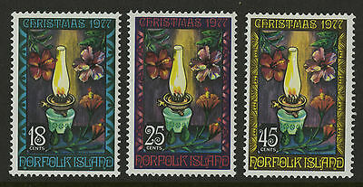 Norfolk Islands   1977   Scott # 219-221    Mint Never Hinged Set