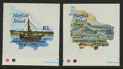Norfolk Island   1975   Scott # 185-186    Mint Never Hinged Set