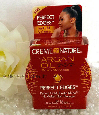 Creme of Nature Argan Oil Perfect Edges For Hold & Control Hair Gel 63.7g
