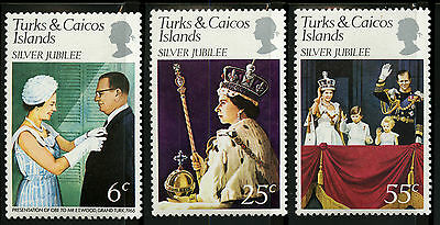 Turks & Caicos Islands   1977   Scott #321-323   MLH Set