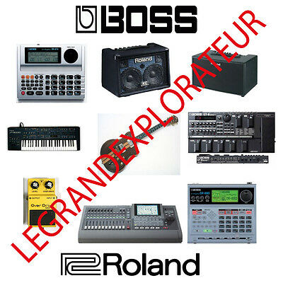 Ultimate  ROLAND &  BOSS  Repair Service Manual & notes  415 PDF manuals on DVD
