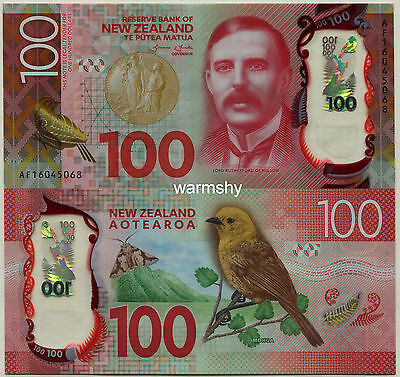 New Zealand 2016 Polymer Banknotes 100 Dollars UNC