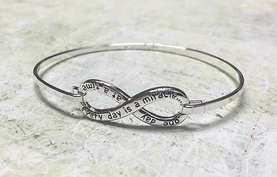 Equilibrium Eternity Bangle - Everyday is a miracle - Great gift for a birthday