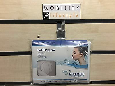 Deluxe Inflatable Bath Pillow With Terry Cloth Covering And Suction Caps