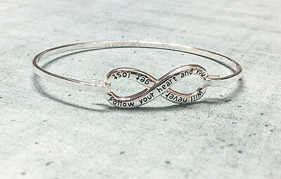 Equilibrium Eternity Bangle - 'Follow your heart...' - Great gift for a birthday