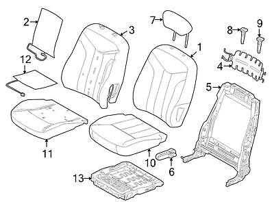 Ford OEM Headrest BN7Z54611A08AE Image 7