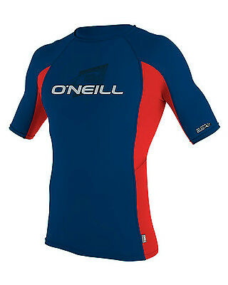 O'Neill Skins  Boys Rash Vest in Blue & Red - On Sale Now