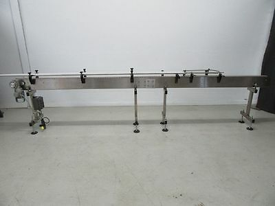 14Ft Long Stainless Steel Conveyor With Motor And Vfd *used Tested*