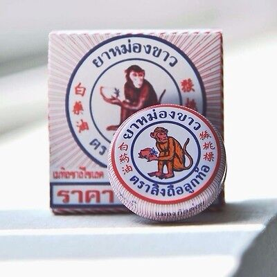 8G. New Thai White Monkey Ancient Herbal Oil Balm Massage Relief Muscle Headache