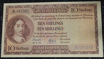 1959 South Africa 10 (Ten) Shillings MH De Kock A177 857382 AU-UNC