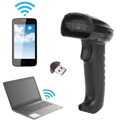 Bluetooth Wireless Automatic Barcode Scanner Reader Wired for Android iOS S2D8