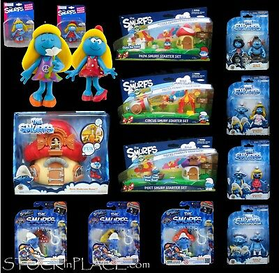 The SMURFS Fashion Doll / Movie House / Micro Village / Interactive Game w.clip