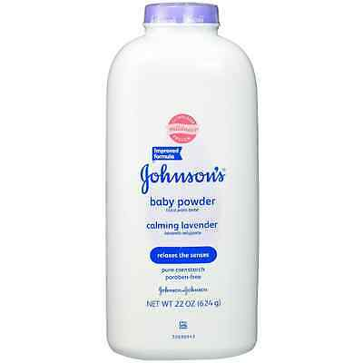 JOHNSON'S Baby Powder Calming Lavender 22 oz (Pack of 5)