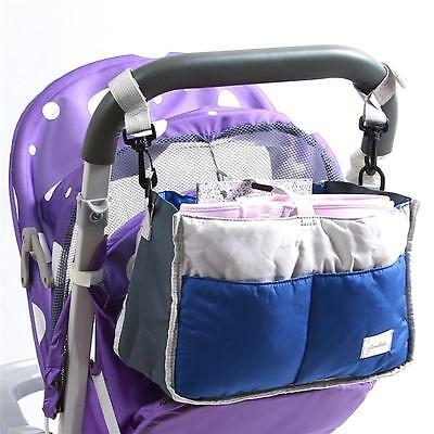 New Stroller Organizer Baby Basket Pushchair Travel Diaper Nappies Storage Bag