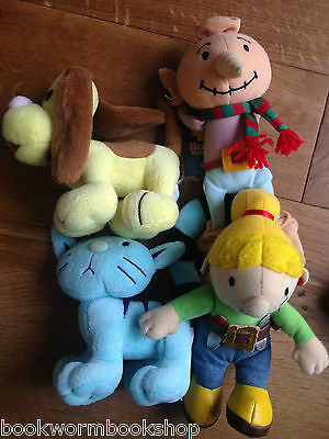 "Bob the Builder Soft Toys approx 8"" Wendy Pilchard Spud Scruffty Choose VGC yy"