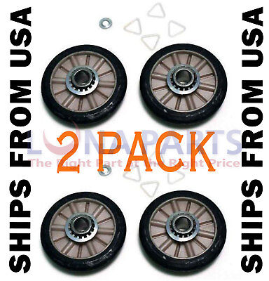 2 Pack *New* 349241T 349241 Dryer Drum Roller Kit Fits Whirlpool Kenmore Sears