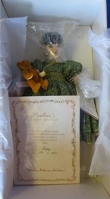 """Pauline's Limited Edition Ling with Teddy 12"""" Porcelain Doll"""