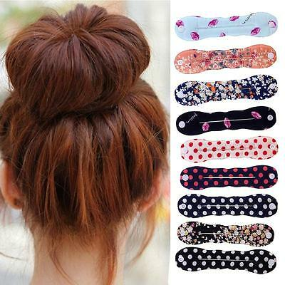 2pcs Hair Styling Magic Donut Bun Curler Tool Maker Ring Twist Hair Styling new