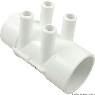"PVC Water Manifold 2""S x 2"" Spig with 4 3/4"" Barbs Spa Hot tub Waterway 672-4160"