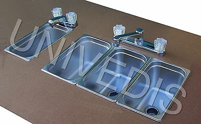 CONCESSION Sink  STAND three 3 COMPARTMENT W/ HAND SINK NEW