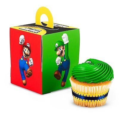 Super Mario Bros.Brothers Pack of 4 Cupcake Boxes Cup cake Birthday