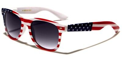 American USA Flag Vintage Sunglasses US Patriotic United States Stars Stripes