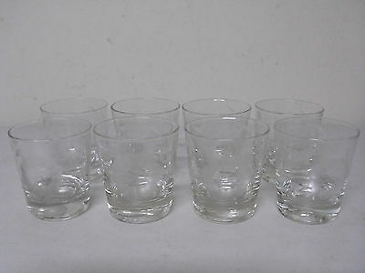 Set Of 8 Vintage Cornflower Tumbler Drinking Glasses 3 1/4 Inches