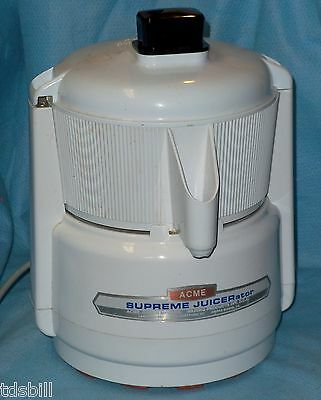 Acme Supreme Juicerator 5001 Powerful Durable Juicer - New Pusher and Clutch Nut