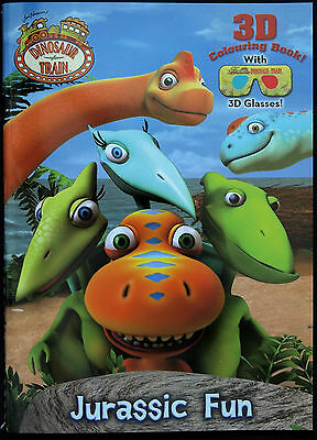 Dinosaur Train 3D Colouring Book With Glasses - Jim Henson Cartoon Jurassic Fun