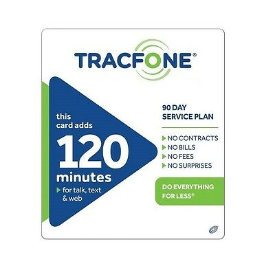 TracFone $29.99 Refill -- 120 Minutes / 90 Days, Loaded To Phone Directly