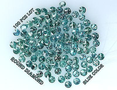 Real 100% Natural Loose 100 Round Diamonds Clarity-I13 Blue Color N535