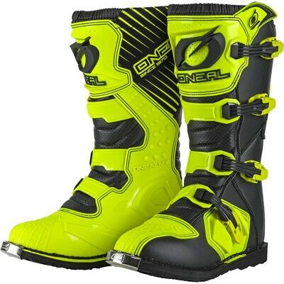 Oneal NEW 2018 Mx Rider CHEAP Dirt Bike Hi Viz Fluro Yellow Motocross Boots
