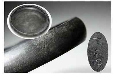 China Collection OLD INK STONE have signed  /  Φ 20cm, 2.1kg